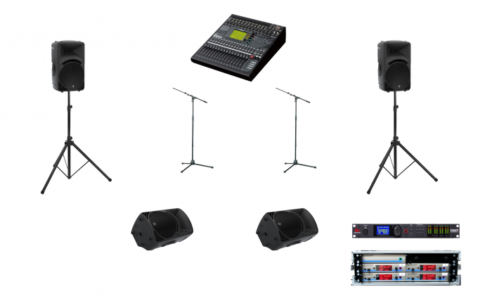 2 speaker pa hire manchester